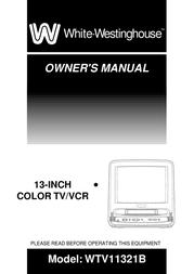 White Westinghouse WTV11321B User Manual