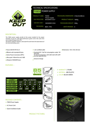 KeepOut FX850 FX850 POWER SUPPLY Leaflet