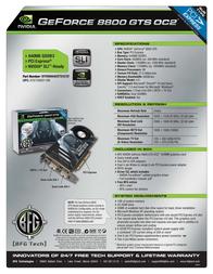 BFG Tech 8800GTS OC2 640MB 151191 Leaflet