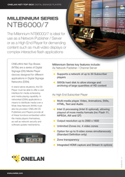 Onelan NTB6000S NTB6000S-HDD500GB Leaflet