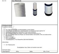 Mauk Duo filter cartridge 741 Data Sheet