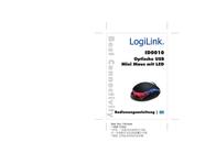 LogiLink Mouse optical USB Mini with LED ID0010 User Manual