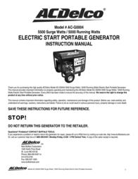 ACDelco AC-G0004 User Manual