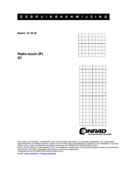Berker Insert Flush-mount radio Q.1, Q.3 Polar white 28806089 28806089 Data Sheet