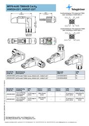 Telegaertner Telegärtner J00026A4000, Pin RJ45 Plug, straight J00026A4000 Data Sheet