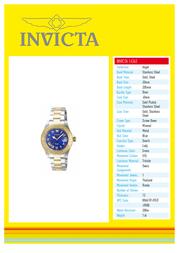 Invicta 14363 Specification Sheet