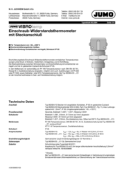 Jumo Screw-in res.thermometer+socket 100 mm 902044/20-380-1003-1-8-100-104 Data Sheet