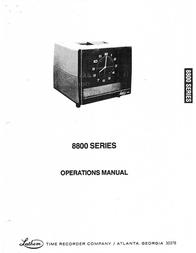 Lathem 8800 Series User Manual