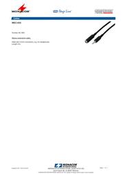 Monacor MEC-635 06.1850 Leaflet