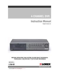 Lorex 4-Channel Digital Video Recorder L154P-81 User Manual
