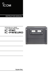 ICOM iPW1 User Manual