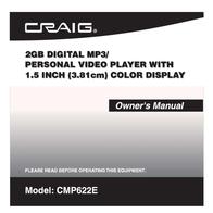 Craig CMP622E User Manual