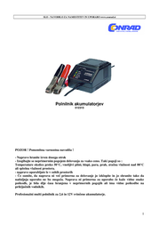 H Tronic AL600plus, 2-12V Lead Acid Battery Charger, 600mAh 2242217 User Manual