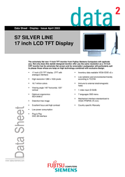 Fujitsu 17IN S7 SILVER TFT ANA S26361-K877-V170 전단