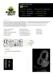 KeepOut HX5 HX5 HEADSET Product Datasheet