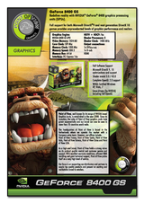 Point of View GeForce 8400 GS R-VGA150852H-C Leaflet