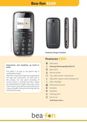 Beafon S200 Leaflet