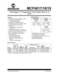 Microchip Technology MCP4018T-104E/LT Linear IC SC-70-6 MCP4018T-104E/LT Data Sheet