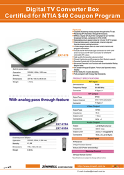 Zinwell ZAT-970A Leaflet