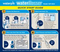 Waterpik WP-900 Quick Setup Guide