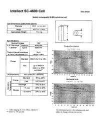 Intellect NiMH-BatterySub-C-Single cell1.2 V / Solder lug: Yes H43SC-4600HBG Data Sheet