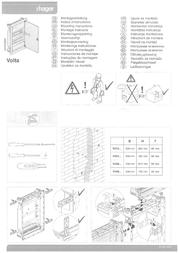Hager Flush small distributors 4 line White VU48NC Data Sheet