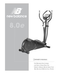 New Balance 8.0e User Manual