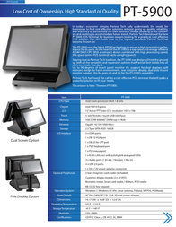 Partner Tech PT-5900 5900 1R2 2W7-MSR Leaflet