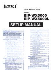 EIKI EIP-WX5000L User Manual