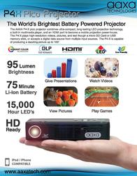 AAXA Technologies P4 X Pico KP500-02 Leaflet