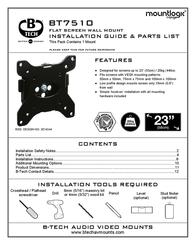 B-Tech LCD TV flat wall mount bracket BT7510/B User Manual