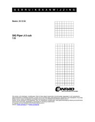 Sig Nitro flight model Piper J-3 Cub BS Kit 1800 mm SIGRC3 Data Sheet