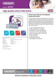 Eminent VGA / PS/2 KVM switch AB7105 Data Sheet