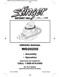 Stinger WD20250 Owner's Manual