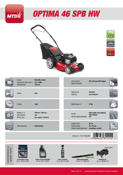 MTD OPTIMA 46 SPB HW 12A-TH5C600 Leaflet