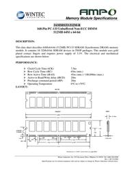 Wintec AMPO SDR 3AMSD133-512M-R Datenbogen