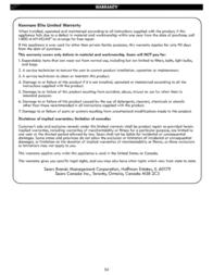 Kenmore Elite 30'' Warming Drawer - Stainless Steel Warranty Information