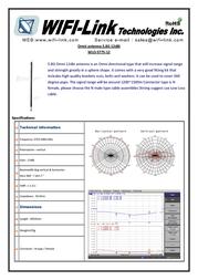 WiFi-Link Omni antenna 12dBi 5.8GHz WLO-5775-12 Leaflet