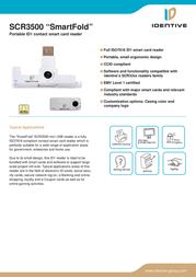 SCM SCR3500 SmartFold SCR3500 Leaflet