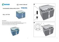 MOBICOOL Cool Box Litres V 12 V, 230 V Light blue, Grey 40 l MobiCoo 91053030 User Manual