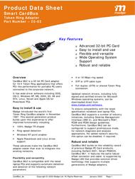 Madge 16/4 CardBus Adapter Mk2 20-03 Product Datasheet