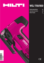 Hilti WSJ 850 User Manual