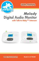Levana Melody Digital Wireless Audio Baby Monitor LV-TW200 User Manual