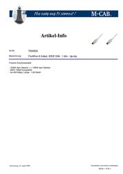 M-Cab Firewire Anschlusskabel 7000655 Leaflet