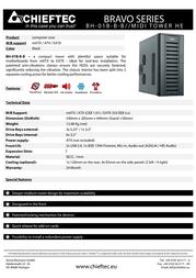 Chieftec BH-01B-B-B Leaflet