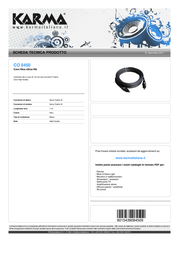 Karma Italiana CO 8450 Leaflet