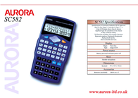 Aurora SC582 NSC582 Leaflet