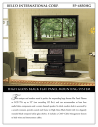 Bell'O FP-4850HG Leaflet