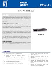 CP Technologies 8-Port PS2 KVM Switch KVM-0811 User Manual