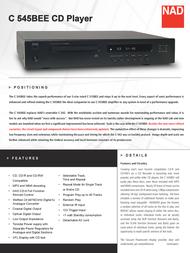 NAD C545BEE-CT User Manual